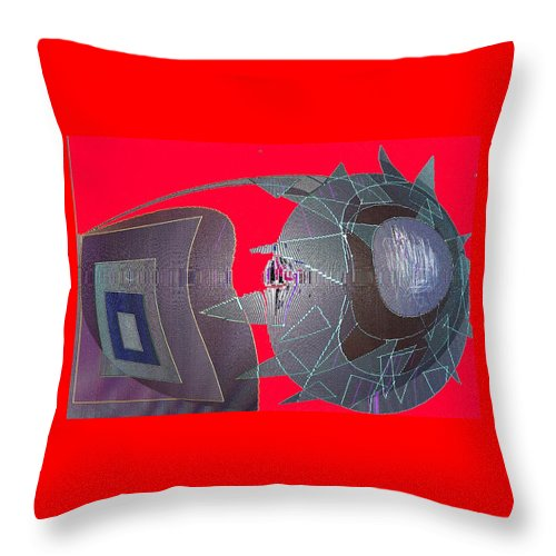 Digital Throw Pillow featuring the digital art Attack by Ian MacDonald