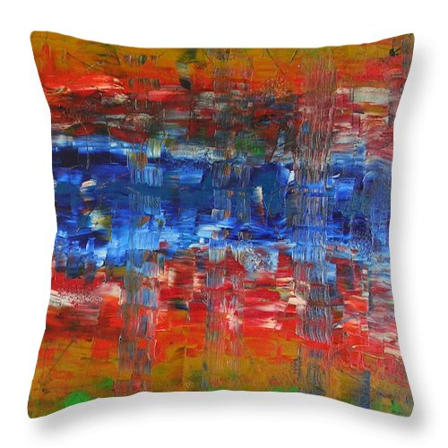 Contemporary Throw Pillow featuring the painting Attitude by Dawn Hough Sebaugh