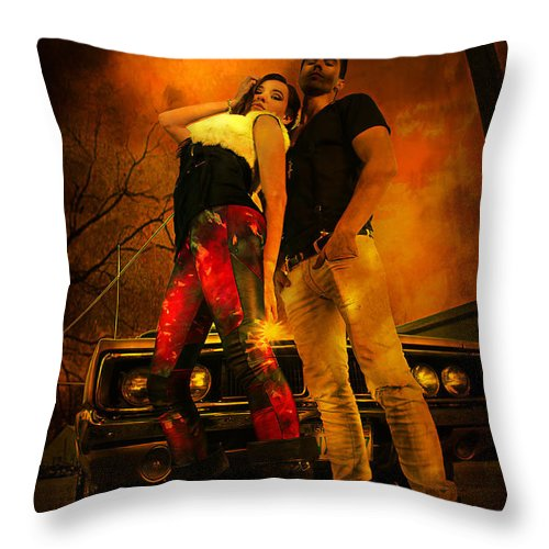 Auto Throw Pillow featuring the photograph Attitude by Jeff Burgess
