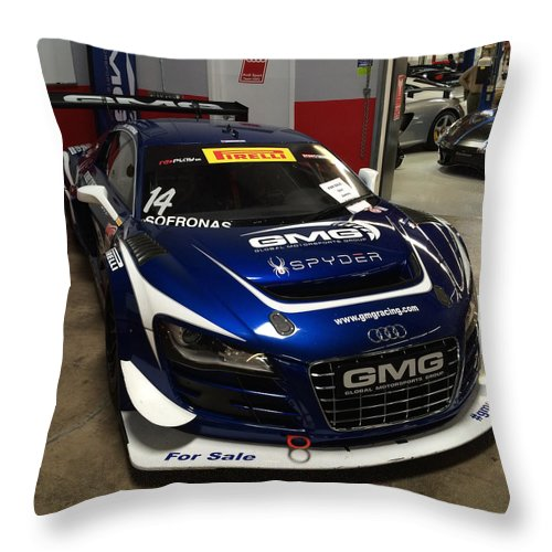 Audi R Race Car Throw Pillow For Sale By MAG Autosport - Audi r8 race car for sale