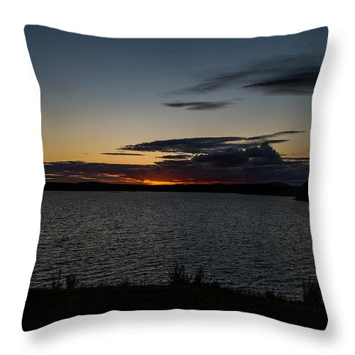 Vivid Sunset Throw Pillow featuring the photograph August Awe  by Ronald Raymond