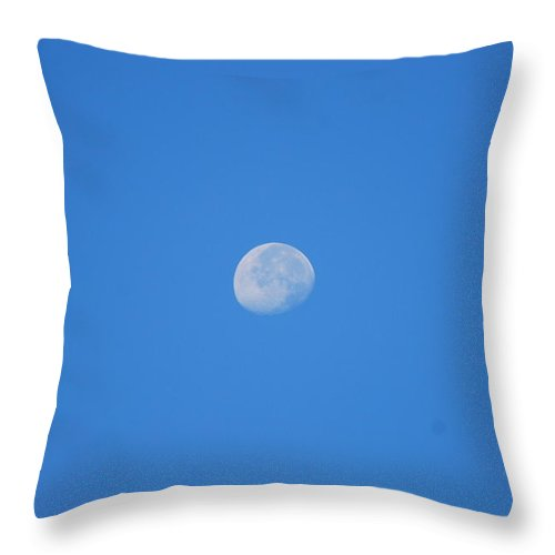 August Throw Pillow featuring the photograph August Morning Moon by StudioBoldt  Photography