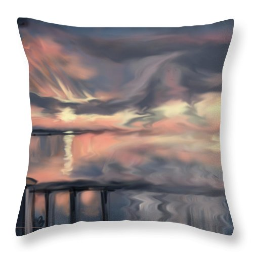 Plymouth Throw Pillow featuring the painting Aunt Jo by Jean Pacheco Ravinski