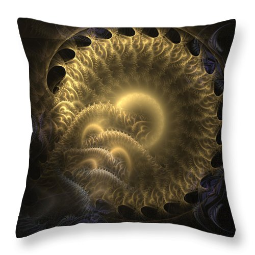 Abstract Throw Pillow featuring the digital art Aureate-2 by Casey Kotas