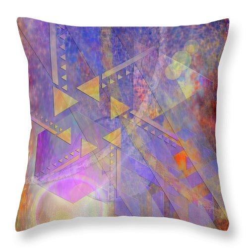 Aurora Aperture Throw Pillow featuring the digital art Aurora Aperture by John Robert Beck