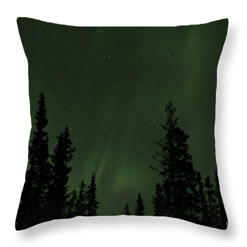 Sky Throw Pillow featuring the photograph Aurora Borealis by Rick Monyahan