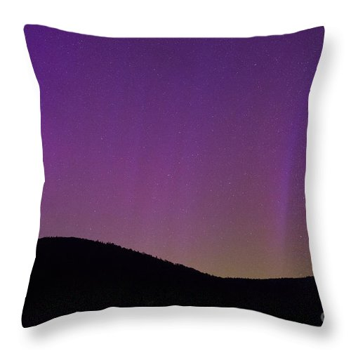 North Pole Throw Pillow featuring the photograph Aurora Lights From Upstate New York by Michael Ver Sprill