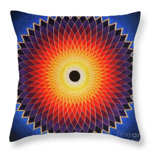 Mandala Throw Pillow featuring the painting Aussie Sun by Charlotte Backman