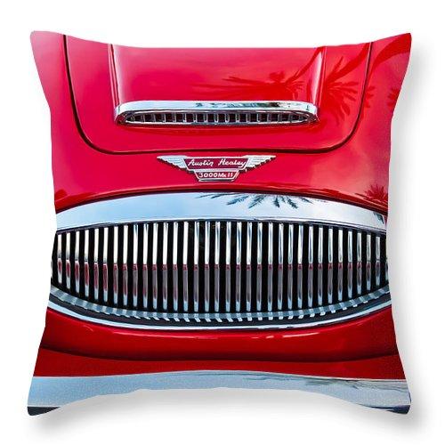 Austin Healey 3000mk Ii Grille Throw Pillow featuring the photograph Austin-healey 3000mk II by Jill Reger