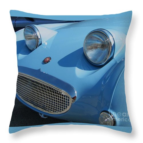 Austin Healy Throw Pillow featuring the photograph Austin Healy Sprite by Neil Zimmerman