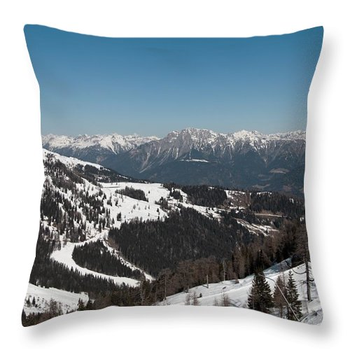 Mountain Throw Pillow featuring the photograph Austria by FL collection