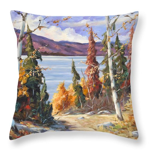 Art Throw Pillow featuring the painting Automn Colors by Richard T Pranke