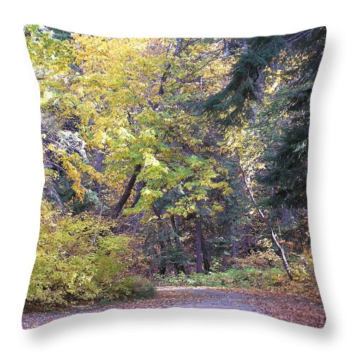 Autumn Photographs Throw Pillow featuring the photograph Autum Colors by Louise Magno
