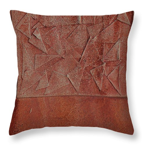 Brown Abstract Neutral Throw Pillow featuring the painting Autumn 45 by Jorge Berlato