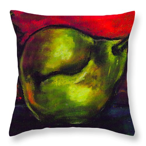 Bartlet Throw Pillow featuring the painting Autumn by Angelina Marino