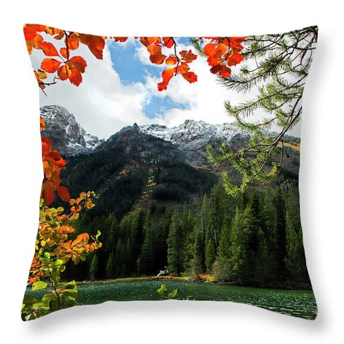 String Lake Throw Pillow featuring the photograph Autumn At String Lake by Wildlife Fine Art