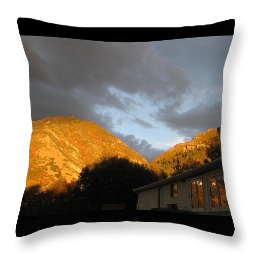 Seasons Throw Pillow featuring the photograph Autumn Bliss by Jess' Shots