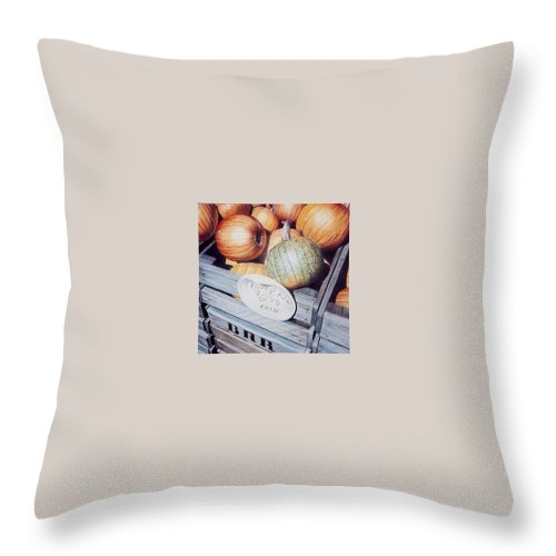 Orange Throw Pillow featuring the painting Autumn by Constance Drescher