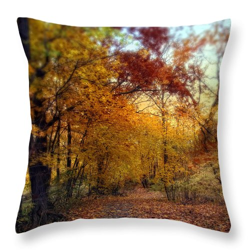 Autumn Throw Pillow featuring the photograph Autumn Crescendo by Jessica Jenney