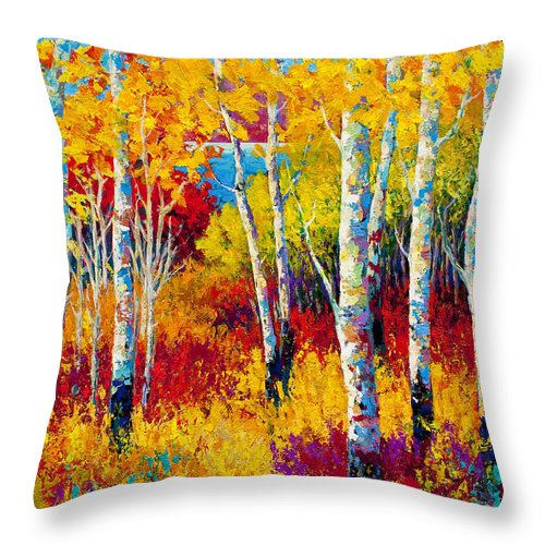 Trees Throw Pillow featuring the painting Autumn Dreams by Marion Rose