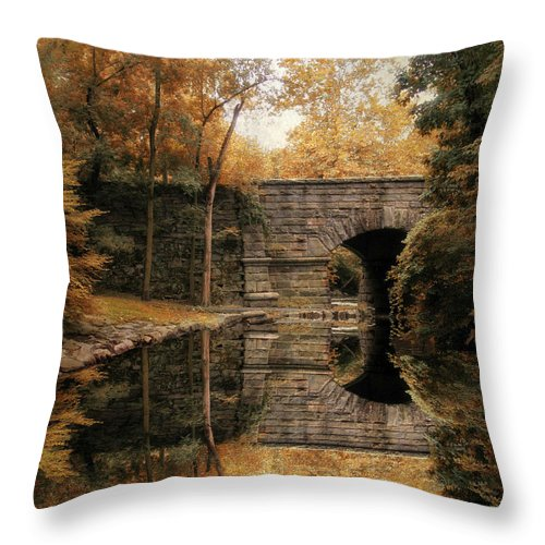 Autumn Throw Pillow featuring the photograph Autumn Echo by Jessica Jenney