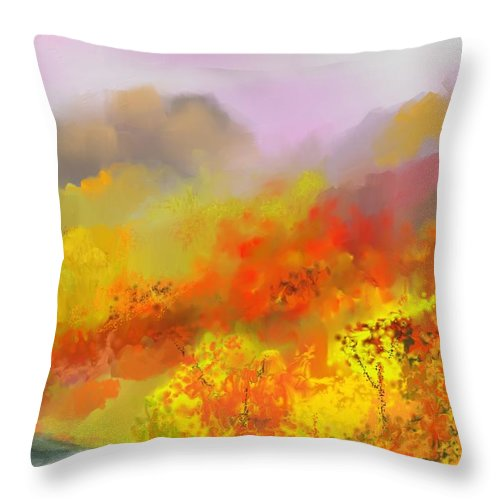 Autumn Throw Pillow featuring the digital art Autumn Expression by David Lane