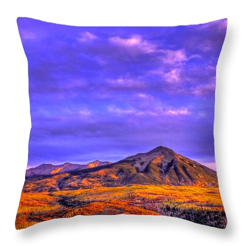 Fall Throw Pillow featuring the photograph Autumn Glow by Scott Mahon
