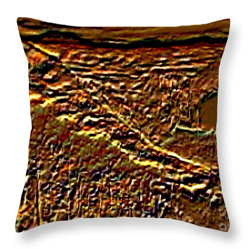 Computer Graphic Throw Pillow featuring the digital art Autumn Has Come by Brenda L Spencer