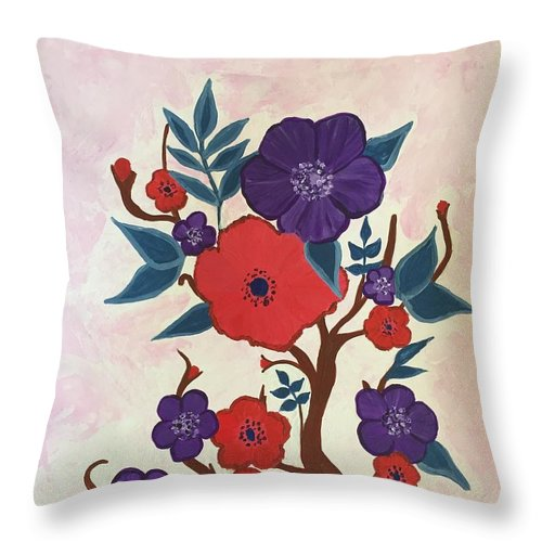 Bold Throw Pillow featuring the painting Autumn by Marti Magna