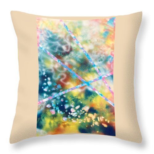 Abstract Throw Pillow featuring the painting Autumn by Micah Guenther