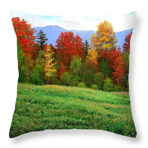Autumn Throw Pillow featuring the painting Autumn Rhapsody by Frank Wilson