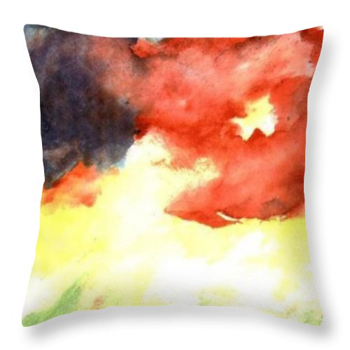 Autumn Throw Pillow featuring the painting Autumn Storm by Andrew Gillette