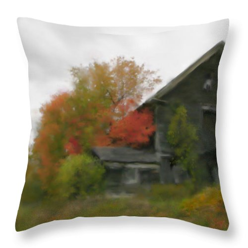 Nature Throw Pillow featuring the painting Autumn Stroll by Stephen Lucas
