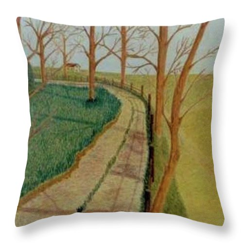 Autumn Throw Pillow featuring the painting Autumn by Vincent Consiglio