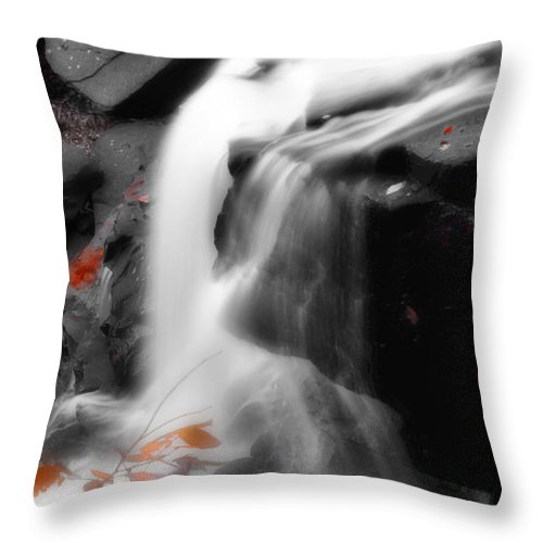 Autumn Throw Pillow featuring the photograph Autumn Waterfall Iv by Kenneth Krolikowski