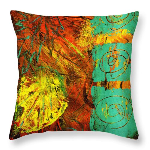 Autumn Throw Pillow featuring the painting Autumn by Wayne Potrafka