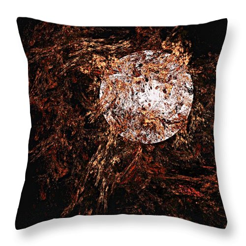 Digital Painting Throw Pillow featuring the digital art Autumn Wind 1 by David Lane