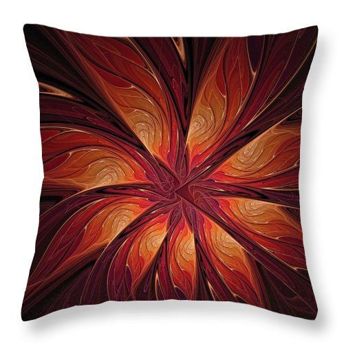 Digital Art Throw Pillow featuring the digital art Autumnal Glory by Amanda Moore