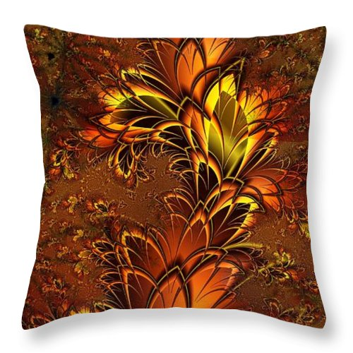 Digital Art Throw Pillow featuring the digital art Autumnal Glow by Amanda Moore