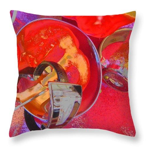 Waches Throw Pillow featuring the photograph Avant Garde Dinner by Evguenia Men