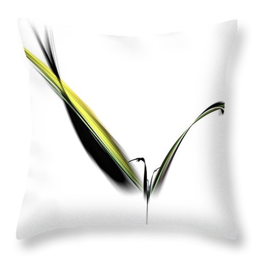 Avian Throw Pillow featuring the digital art Avian Zen - Fractal Art by NirvanaBlues