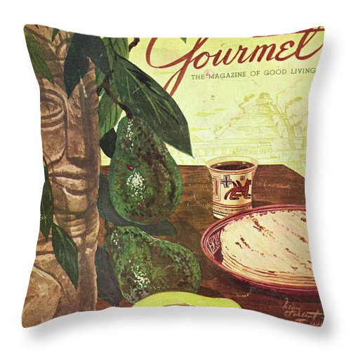 Food Throw Pillow featuring the photograph Avocado And Tortillas by Henry Stahlhut