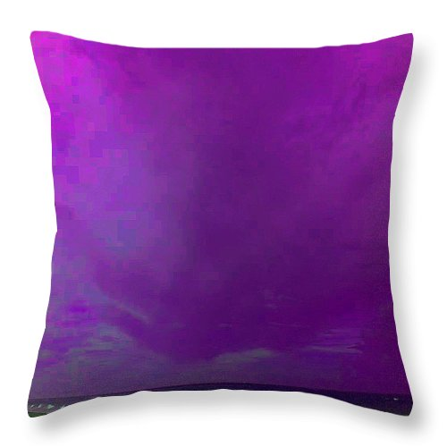 Square Throw Pillow featuring the digital art Awaiting News Of The Battle Of Jutland by Eikoni Images