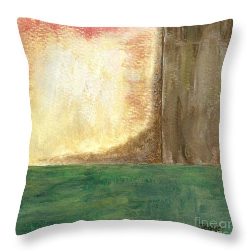 Abstract Throw Pillow featuring the painting Awakening by Itaya Lightbourne
