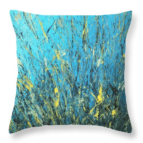 Splash Throw Pillow featuring the painting Awakening by Todd Hoover