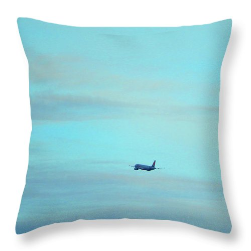 Jet Throw Pillow featuring the photograph Away by Mark Blauhoefer