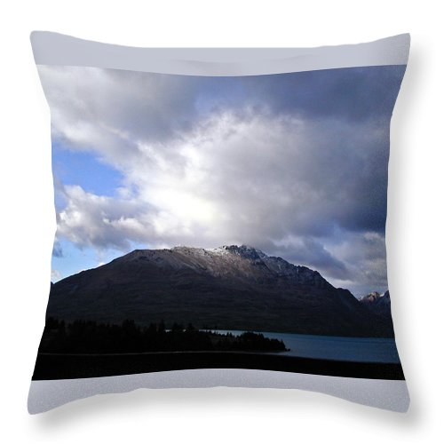 Mountains Throw Pillow featuring the photograph Awesome Aspect Mountain by Douglas Barnett