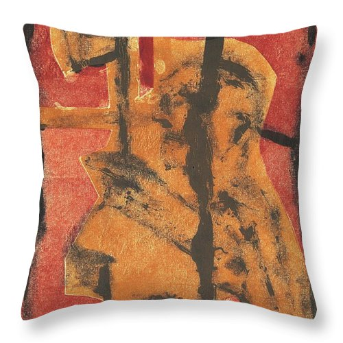Axeman Throw Pillow featuring the relief Axeman 14 by Artist Dot