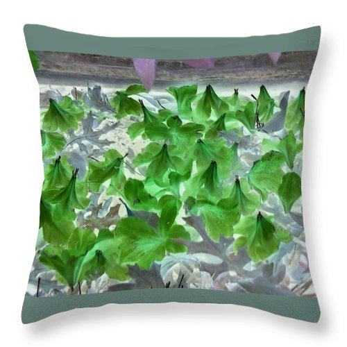 Azalea Flowers Plants Negative Throw Pillow featuring the photograph Azaleas In Negative by Cindy New
