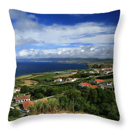 Archipelago Throw Pillow featuring the photograph Azores Islands Landscape by Gaspar Avila